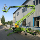 Trailer articulated spider boom lift