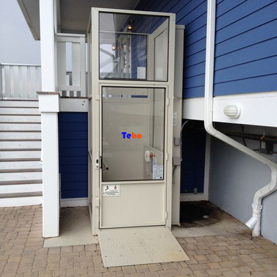 Hydraulic wheelchair lift with elevator shaft finishes(anti-rain processing)