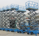 Scissor mobile  lift platform manual driving capacity 400kg
