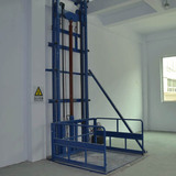 Goods lift single side with semi closed cage