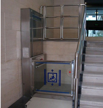 Hydraulic wheelchair lift platform 1000mm loading capacity 400kg with stainless steel sheet finishes