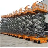 Self-driving hydraulic scissor lift platform 5~14 meters 350kg capacity