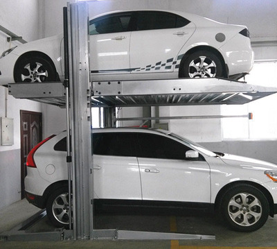 Middle two  post simple lifting car parking system car lift