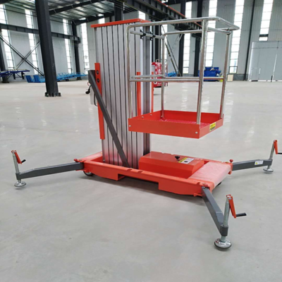 Single mast aluminum alloy lift platform 6000mm