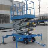 Movable scissor lift platform manual driving 350kg
